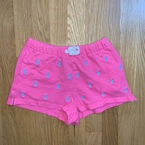 Polo pink shorts with light blue polo horses
